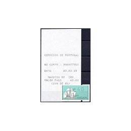 PORTUGAL (1993). Nau. ATM nuevo (40) + rec.