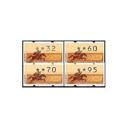 PORTUGAL (1990). Emblema postal (2). Serie 4 val. (1990)