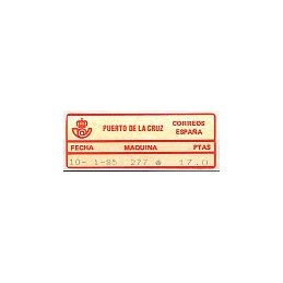 ESPAÑA (1985). 01. PUERTO DE LA CRUZ - 277. Sello nuevo (17.0)