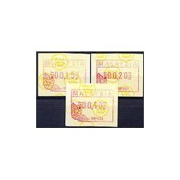 MALAYSIA (1987). Emblema postal. Serie 3 val.