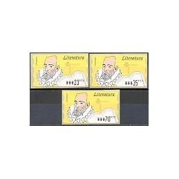 ESPAÑA. 16.2.1. Literatura - Fosf. PTS-5E. Serie 3 val. (1998)