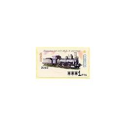 ESPAÑA. 55. Locomotora 030, 2577 - MZA. PTS-4 Mobba. ATM (1 PTS)