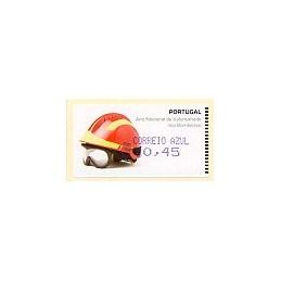 PORTUGAL (2008). Bombeiros. Amiel Azul-CA. ATM nuevo (0,45)