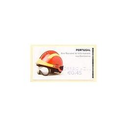 PORTUGAL (2008). Bombeiros. Epost Azul-CA. ATM nuevo (0,45)