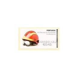 PORTUGAL (2008). Bombeiros. Epost negro-CA. ATM nuevo (0,45)