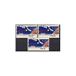 ESPAÑA. 47. Hispasat 1C. PTS-5E. Serie 3 val. (1)