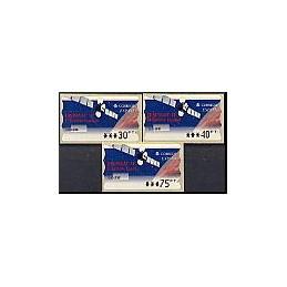 ESPAÑA. 47. Hispasat 1C. PTS-5A. Serie 3 val. (2)