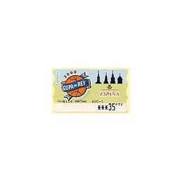 ESPAÑA. 39. Copa del Rey ACB 2000. PTS-5E. ATM (35 PTS)-MATAR