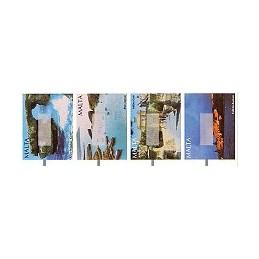 MALTA (2002). Turismo. Etiquetas en blanco, tira