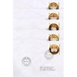 VATICANO (2001). Monedas de oro. Sobres primer día (Europa)