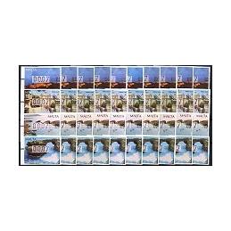 MALTA (2002).  Turismo - 01 a 10. ATMs nuevos (00.07)