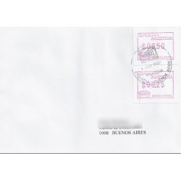 ARGENTINA (1999). Emisión Frama. Sobre correo nacional