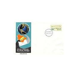 BOLIVIA (1989). Emblema postal. Sobre primer día (Cochabamba)