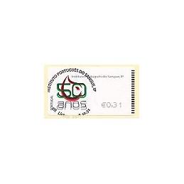 PORTUGAL (2008). I.P. Sangre - Epost n. ATM (0,31), matasello