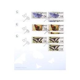 NORUEGA (2008). Mariposas (nuevo logo). Sobres P. D. - serie x 3
