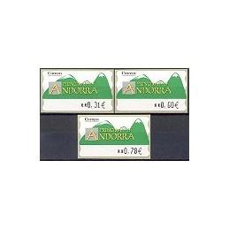 ANDORRA (2008). Montañas verdes- 5. LF-5E. Serie 3 val. (2008)