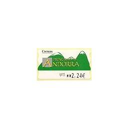ANDORRA (2008). Montañas verdes- 5. LF-5E. ATM nuevo (URG 2,24)