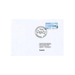 TAIWÁN (2008). Enlace postal - verde. Sobre P.D. España (083)