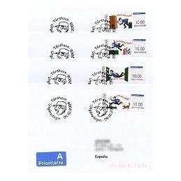 ISLAS FEROE (2008). Correo (1.2). Sobres P. D. - España (Prior)