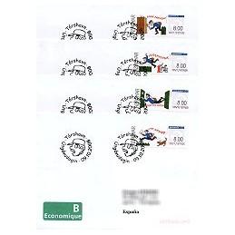 ISLAS FEROE (2008). Correo (1.2). Sobres P. D. - España (Econ)