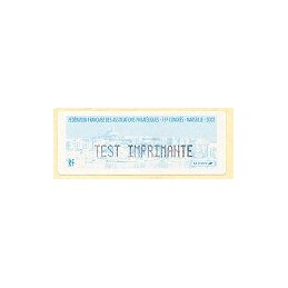 FRANCIA (2002). 75 Congres FFAP Marseille. Etiqueta TEST