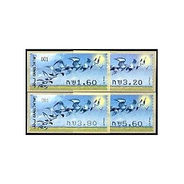 ISRAEL (2009). Aves rapiña - 001. Serie 4 val.