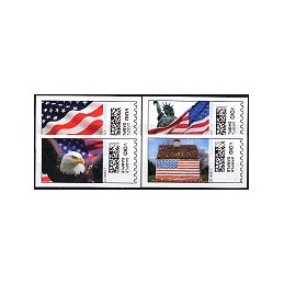 EEUU (2008). 16. Motivos patrióticos. Etiquetas test