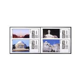 EEUU (2008). 20. Monumentos presidenciales. Etiquetas test