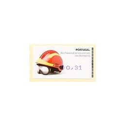 PORTUGAL (2008). Bombeiros - Amiel Azul. ATM nuevo (0,31)