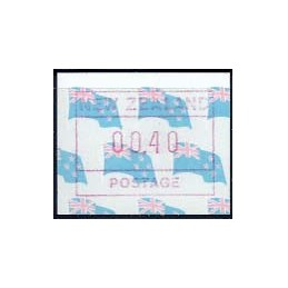 N. ZELANDA (1988). Bandera. ATM nuevo, nacional (00.40)