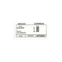 MÉXICO (2007). Emisión SIO (1.1) - 06703. Sello nuevo