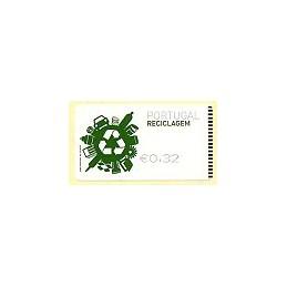 PORTUGAL (2009). Reciclaje - SMD negro. ATM nuevo (0,32)