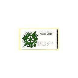 PORTUGAL (2009). Reciclaje. SMD negro - CA. ATM nuevo