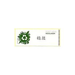 PORTUGAL (2009). Reciclaje - Crouzet negro. ATM (0,01)