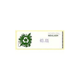 PORTUGAL (2009). Reciclaje - Crouzet azul. ATM (0,01)