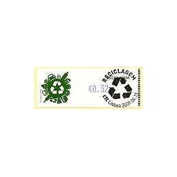 PORTUGAL (2009). Reciclaje - Crouzet azul. ATM (0,32), matasello