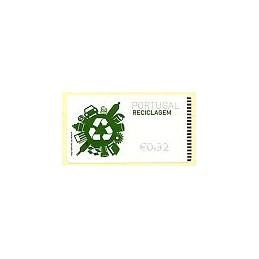 PORTUGAL (2009). Reciclaje - NewVision azul. ATM (0,32)