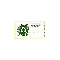 PORTUGAL (2009). Reciclaje - Amiel negro. ATM (0,32)