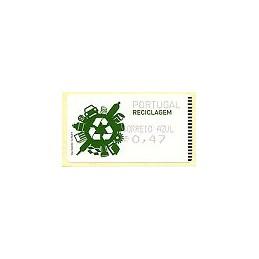 PORTUGAL (2009). Reciclaje. Amiel negro - CA. ATM nuevo