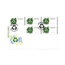 PORTUGAL (2009). Reciclaje - NewVision azul. Sobre P. D. (serie)