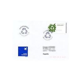 PORTUGAL (2009). Reciclaje - SMD negro. Sobre P. D. (España)