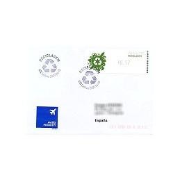 PORTUGAL (2009). Reciclaje - Crouzet negro. Sobre P. D. (España)