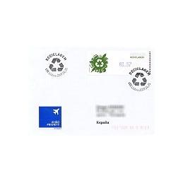 PORTUGAL (2009). Reciclaje - Crouzet azul. Sobre P. D. (España)