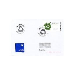 PORTUGAL (2009). Reciclaje - NewVision azul. Sobre P. D. (España