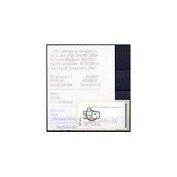 PORTUGAL (2009). I.P. Sangre - Amiel Azul. ATM nuevo (0,32) + r.