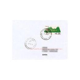 ANDORRA. Montañas verdes- 4. EUR-5E-0083. Sobre, fecha (2005)