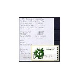 PORTUGAL (2009). Reciclaje - Amiel negro. ATM + rec.
