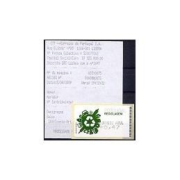 PORTUGAL (2009). Reciclaje. Amiel negro - CA. ATM + rec.