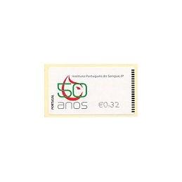 PORTUGAL (2009). I.P. Sangre - Epost n. ATM nuevo (0,32)