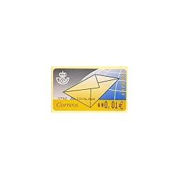 ESPAÑA. 9.2. Carta. EUR-5E texto. ATM nuevo (0,01)